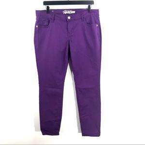 Old Navy Size 14 Purple Rockstar Skinny Jeans